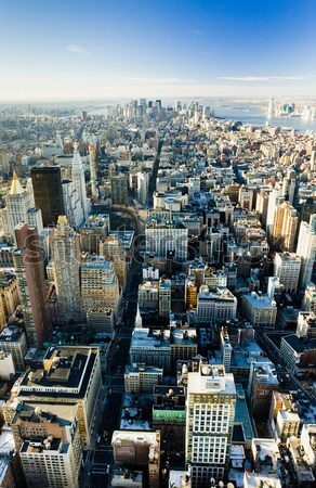 Vista Manhattan Empire State Building Nueva York EUA ciudad Foto stock © phbcz