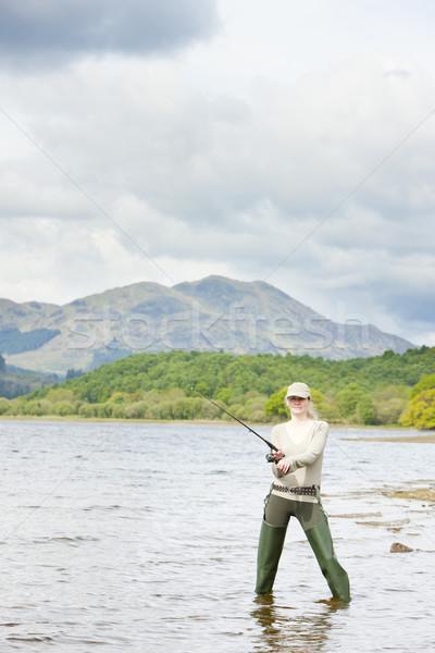 釣り 女性 スコットランド スポーツ リラックス 女性 ストックフォト © phbcz