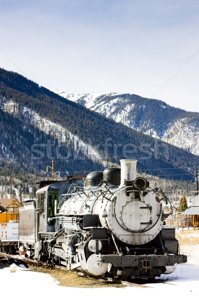 old steam locomotive, Silverton, Colorado, USA Stock photo © phbcz