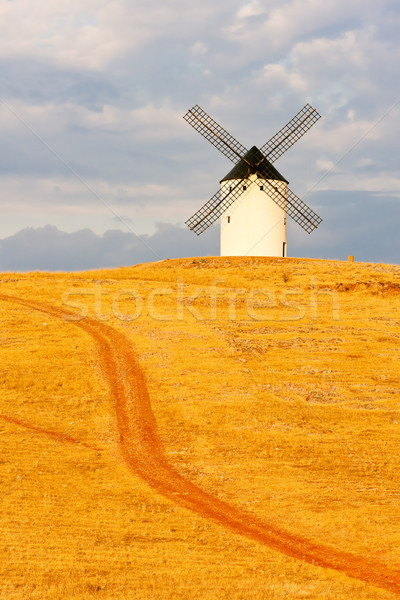 windmill, Alcazar de San Juan, Castile-La Mancha, Spain Stock photo © phbcz