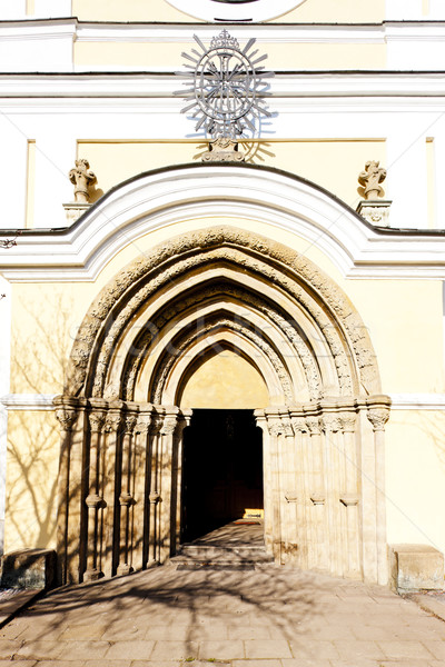 Kerk maagd onderstelling politie Tsjechische Republiek architectuur Stockfoto © phbcz