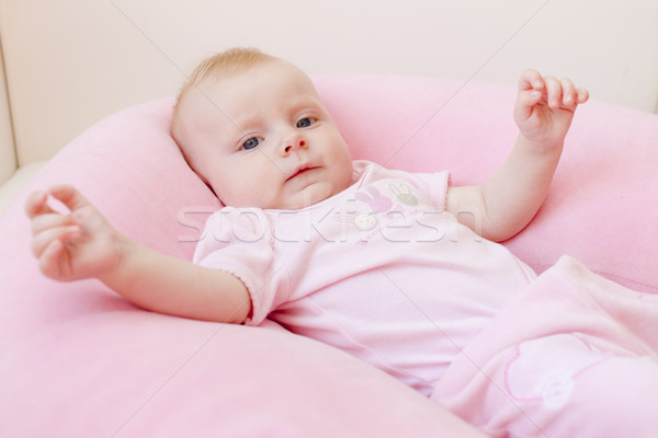 portrait of five months old baby girl Stock photo © phbcz
