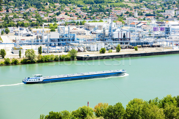 Cargo France industrie navire industrielle transport Photo stock © phbcz