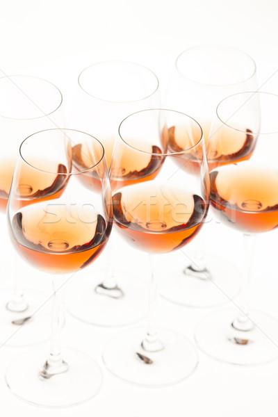 ワイングラス バラ ワイン アルコール ワイングラス オブジェクト ストックフォト © phbcz