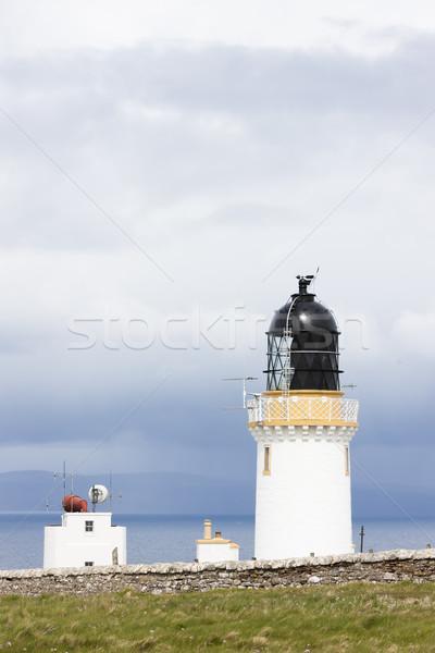 Hoofd vuurtoren hoogland Schotland gebouw oceaan Stockfoto © phbcz