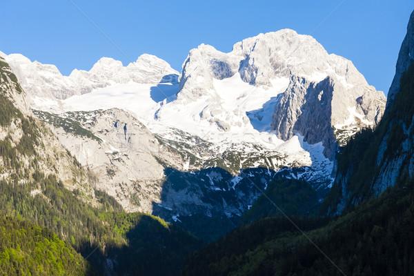 view at Dachstein from Vorder-Gosausee lake, Upper Austria-Styri Stock photo © phbcz