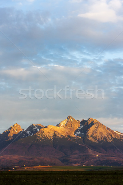 surroundings of Lomnicky Peak, Vysoke Tatry (High Tatras), Slova Stock photo © phbcz
