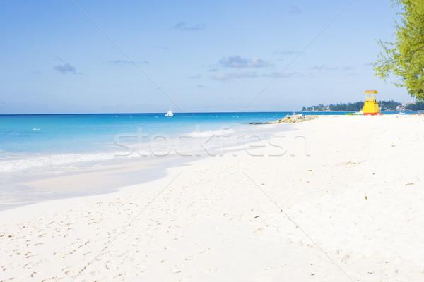 Kabiny plaży przedsiębiorstwo Barbados Karaibów morza Zdjęcia stock © phbcz