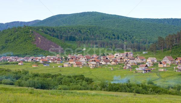 gypsy village near Krasna Horka, Slovakia Stock photo © phbcz