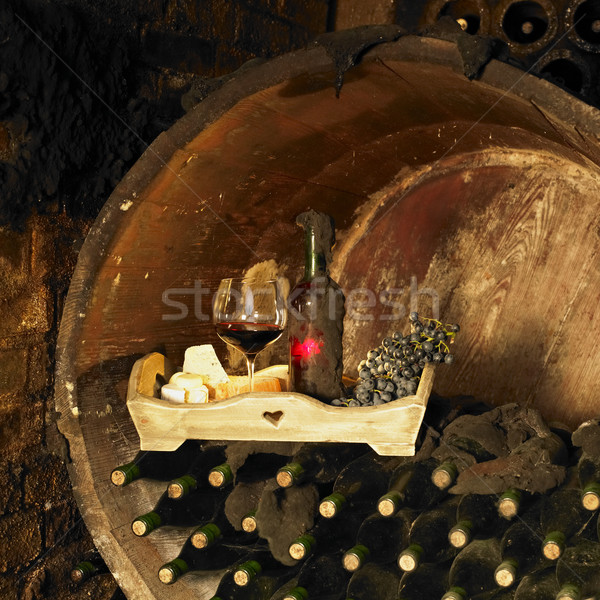 Stock photo: wine still life, Biza winery, Cejkovice, Czech Republic