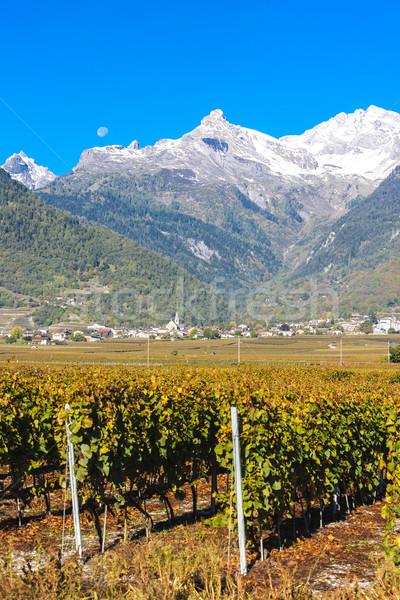 Região Suíça paisagem montanhas outono europa Foto stock © phbcz
