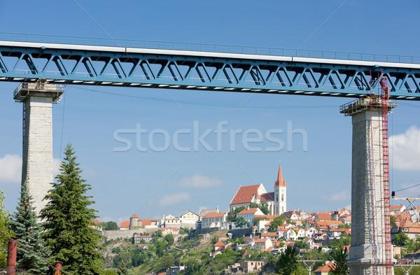 Znojmo with railway viaduct, Czech Republic Stock photo © phbcz