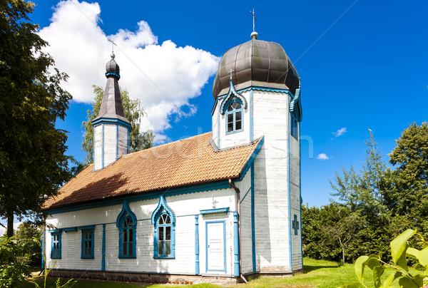 Orosz ortodox templom építészet Európa kint Stock fotó © phbcz