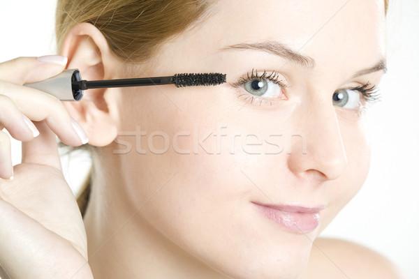 Portret uzupełnić kobieta piękna twarze młodych Zdjęcia stock © phbcz