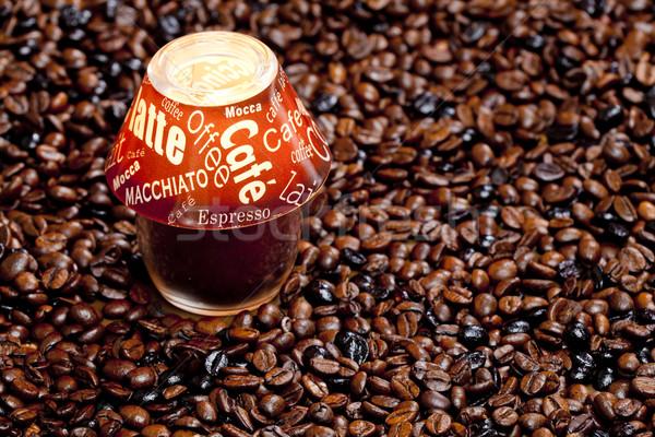 Foto d'archivio: Ancora · vita · candela · chicchi · di · caffè · cafe · lampada · oggetto