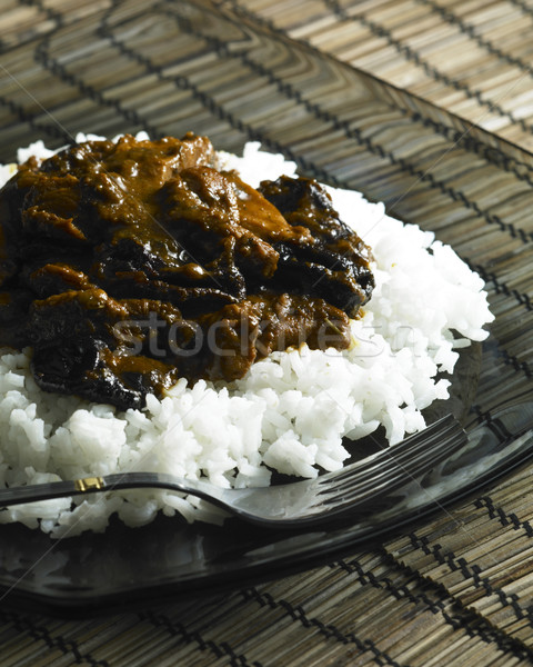 turkey meat sweet and sour Stock photo © phbcz