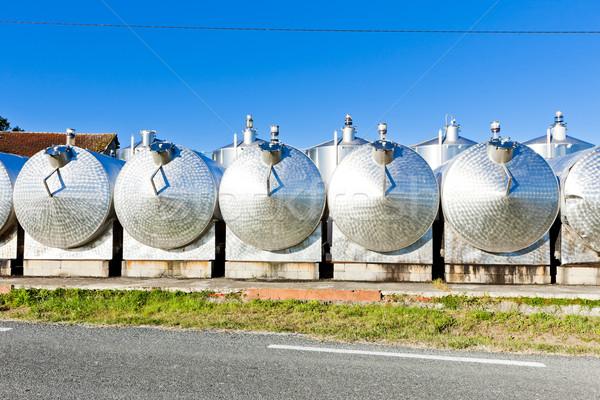 fermentation tanks, Begadan, Bordeaux Region, France Stock photo © phbcz