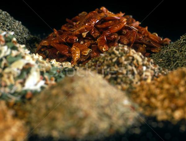 Fűszer eszik fűszer bent részlet hozzávaló Stock fotó © phbcz