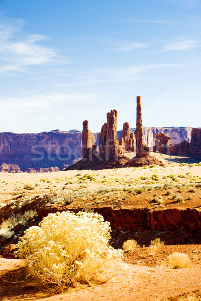 Stock photo: The Totem Pole, Monument Valley National Park, Utah-Arizona, USA