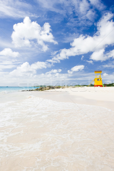 cabin on the beach, Enterprise Beach, Barbados, Caribbean Stock photo © phbcz