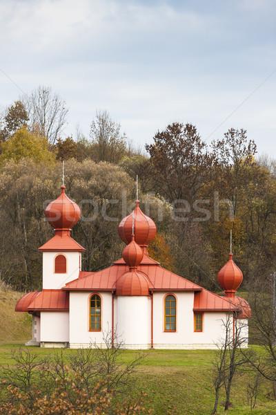 Ortodoxo igreja Eslováquia arquitetura europa ao ar livre Foto stock © phbcz