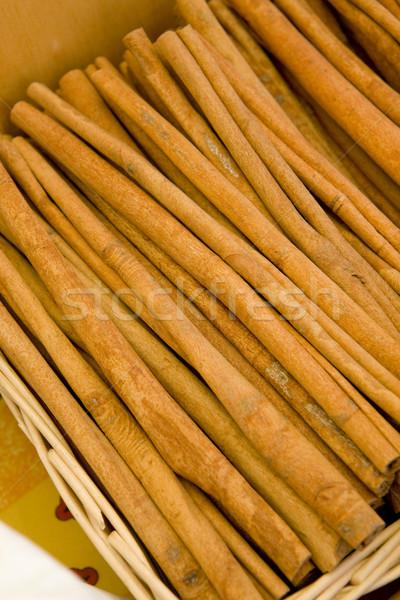 Foto stock: Canela · rua · mercado · França · tempero · ao · ar · livre
