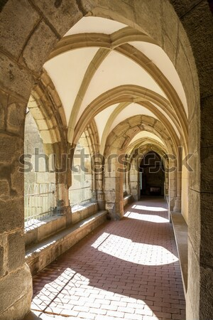 cloister of monastery, Hronsky Benadik, Slovakia Stock photo © phbcz