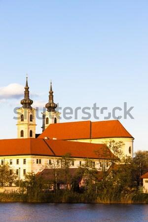 Bazilika hölgy kolostor Szlovákia épület utazás Stock fotó © phbcz