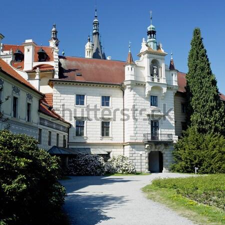 Paleis tuin Polen steeg kasteel architectuur Stockfoto © phbcz