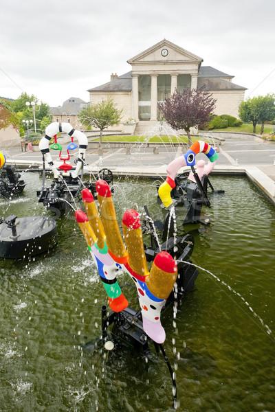 Moderne fontein stadhuis stad reizen architectuur Stockfoto © phbcz