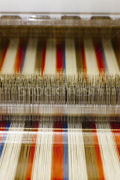 Textil gép technológia ipar gyár szövet Stock fotó © phbcz
