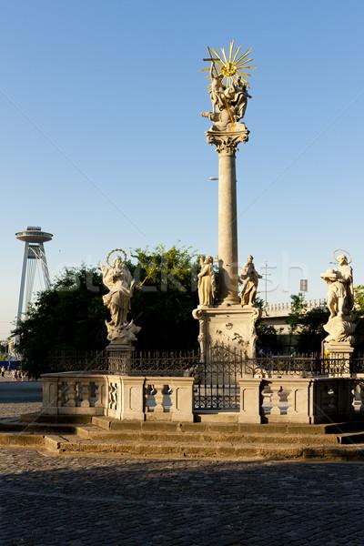 Colonne Bratislava Slovaquie carré extérieur Photo stock © phbcz