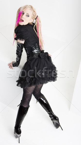 экстравагантный одежды загрузка сапогах Сток-фото © phbcz