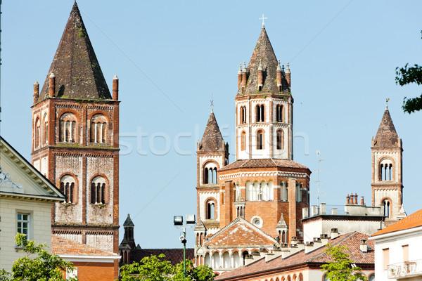 Basilica di Sant'Andrea, Vercelli, Piedmont, Italy Stock photo © phbcz