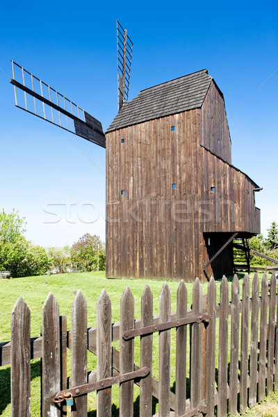 wooden windmill, Klobouky u Brna, Czech Republic Stock photo © phbcz