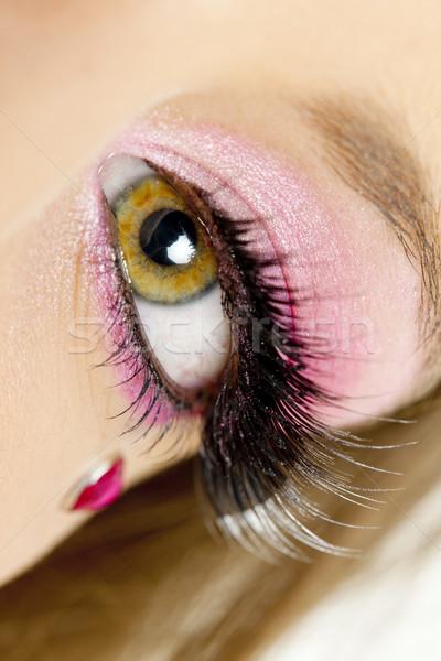 Détail maquillage femme yeux beauté seuls Photo stock © phbcz
