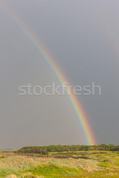 радуга гольф Шотландии небе гольф пейзаж Сток-фото © phbcz
