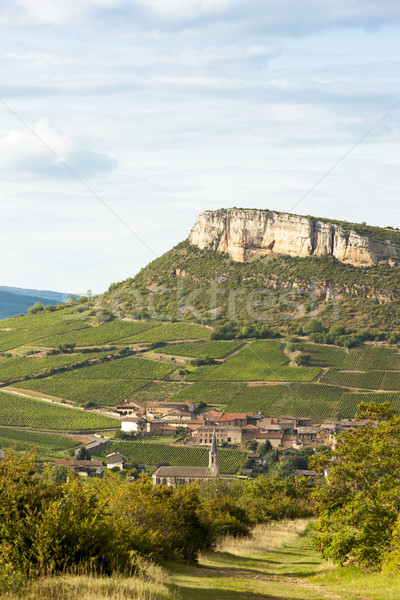 Vergisson Rock, Burgundy, France Stock photo © phbcz