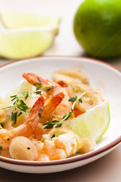 Cal hierbas comida plato saludable Foto stock © phbcz
