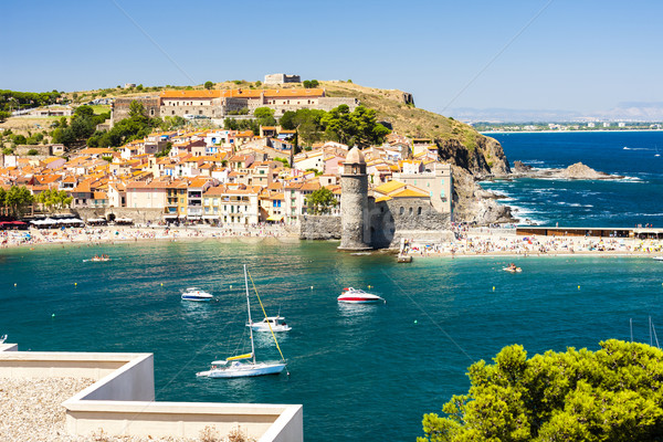 town and harbour of Collioure, Languedoc-Roussillon, France Stock photo © phbcz