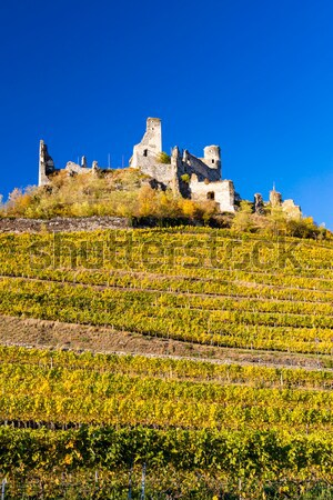 Calvary of Mikulov with autumnal vineyard, Czech Republic Stock photo © phbcz