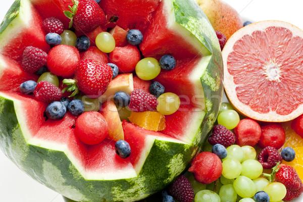 Salade de fruits eau melon alimentaire fruits fond Photo stock © phbcz