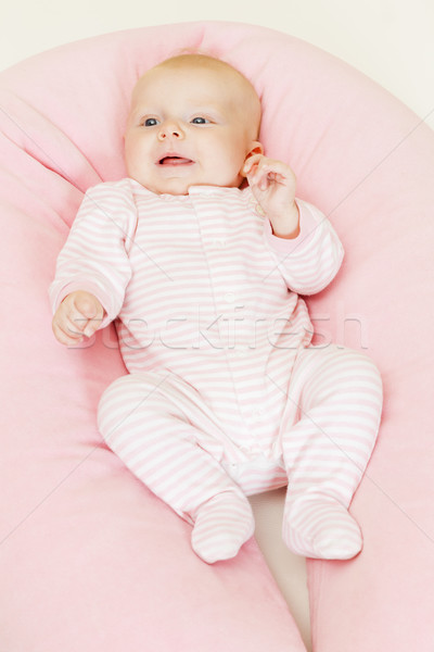 three months old baby girl Stock photo © phbcz