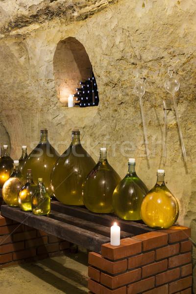 ワイン貯蔵室 チェコ共和国 キャンドル アルコール タンク オブジェクト ストックフォト © phbcz