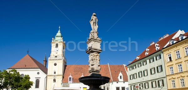 Principal pătrat orasul vechi hol Bratislava Slovacia Imagine de stoc © phbcz