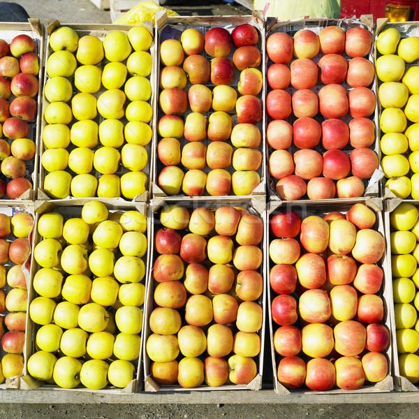Maçãs Sérvia fruto saúde fundos comer Foto stock © phbcz