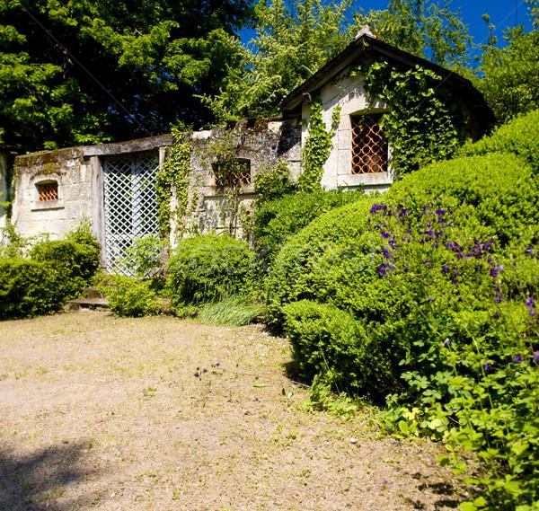 courtyard of Cinq-Mars-la-Pile Castle, Indre-et-Loire, Centre, F Stock photo © phbcz