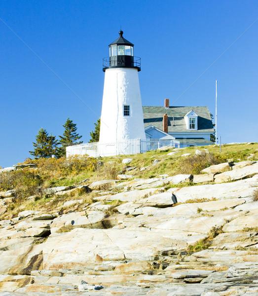 lighthouse Pemaquid Point Light, Maine, USA Stock photo © phbcz