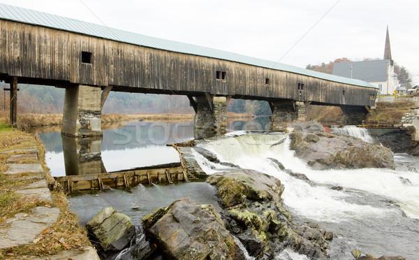 Bath Bridge (1832), New Hampshire, USA Stock photo © phbcz