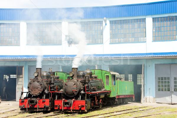 steam locomotives in depot, Kostolac, Serbia Stock photo © phbcz